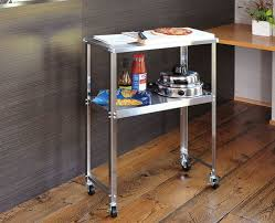 stainless steel slim work with ds92 frames sons casters work table kitchen table shelves work desk kitchen trolley