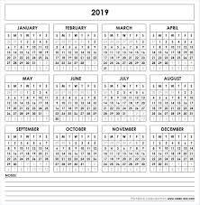 Calendar Year 2019 Printable 2019 Printable Calendar Yearly Calendar Pinterest Calendar