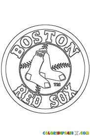 Small Picture Red Sox Logo Coloring Pages Crafts Pinterest Clip art and Craft
