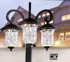 innova lighting led 3 light outdoor lamp post photo 1