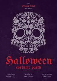 Dark Flyer Dark Violet With Halloween Vectors Halloween Flyer Templates By Canva