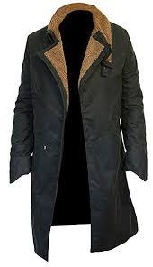 Blade Runner Belt Chart Mens Ryan Gosling Officer K Blade Runner 2049 Black Cotton Fur Trench Long Coat