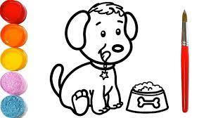 Vẽ và Tô Màu con Chó - Vẽ Tranh và Đồ Chơi - Glitter Cute Dog coloring &...