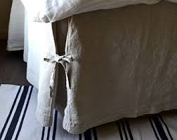 linen bedskirt king. Interesting King Box Pleated Linen Bedskirt With Ties Dust Ruffle Valance Full  Double  Queen And King Sizes In I