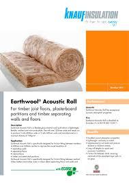 earthwool-acoustic-roll - KNAUF Insulation - PDF Catalogues ... & earthwool-acoustic-roll - 1 / 2 Pages Adamdwight.com