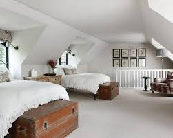 traditional bedroom ideas. Traditional Guest Bedroom In London With White Walls And Carpet. Ideas L