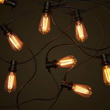 black commercial festoon teardrop led edison globes