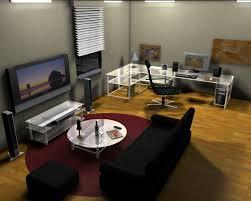 stylish office desk setup. Open Plan Office Room Design With Transparent Desk Also Living Stylish Setup