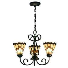 jerome 60 watt tiffany bronze integrated led chandelier with hand rolled art glass shades