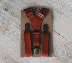 cognac wedding suspenders groomsmen leather suspenders mens rustic wedding suspenders boys suspenders ring bearer