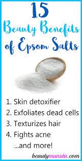 15 beauty benefits of epsom salts for skin hair more