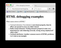 Fehlersuche in HTML - Lerne Webentwicklung | MDN