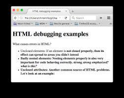 Debugging HTML - Learn web development | MDN