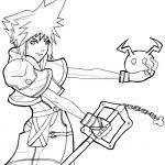 Small Picture Kingdom Hearts Coloring Page qlyviewcom