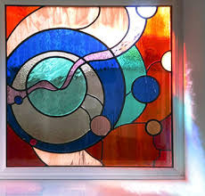 stained glass panel in bramhope encapsulated stained glass panel in silkstone