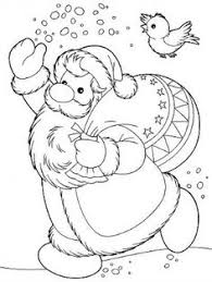 Small Picture Santa Claus Kids Coloring Pages and Free Colouring Pictures to