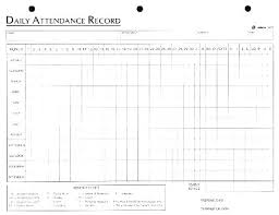 Weekly Attendance Register Template Monthly Attendance Sheet Format Vbhotels Co