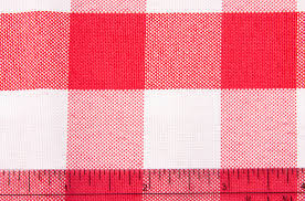 gingham checd square 70 x70 polyester overlay tablecloth red white