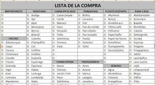Lista De Compras Para El Supermercado Lista De La Compra En Excel Descargar Gratis