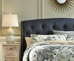 tufted headboard with nailhead trim queen upholstered headboard in dark gray with tufting and nailhead trim how to make a tufted headboard with nailhead