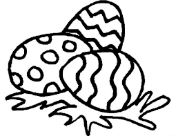 Easy Easter Egg Coloring Pages Printable Coloring Page For Kids