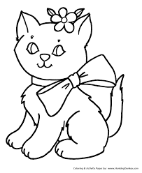 Easy Coloring Pages For Kids Of Animals