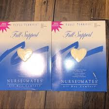 Nurse Mates Full Support Pantyhose Nwt