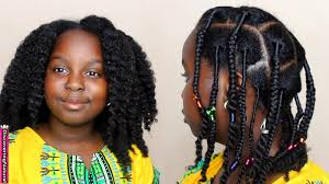 african threading braids and twists natural hair kids style