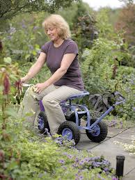 garden scooter seat. for gardeners who have trouble kneeling or bending, a garden scooter is way to seat