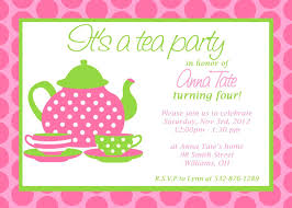 Tea Party Invitations Free Template Printable Tea Party Invitations Template Ideal Invitation
