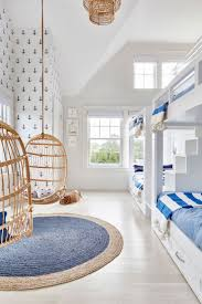 interesting nautical bedroom ideas for kid. A Nautical Kids Room | Hanging Rattan Chairs Via Serena \u0026 Lily Image Chango Interesting Bedroom Ideas For Kid S