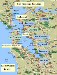 sanfrancisco bay area and california maps  english  me