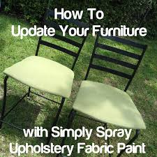 how i updated my chairs using simply spray upholstery fabric paint