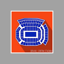 Psu Football Stadium Seating Chart Amazon Com Artsycanvas Florida Ben Hill Griffin Stadium