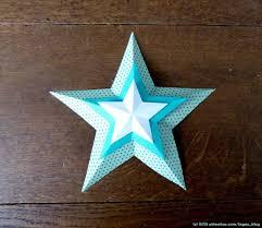 Druckvorlage Und Faltanleitung 3d Sterne Ingas