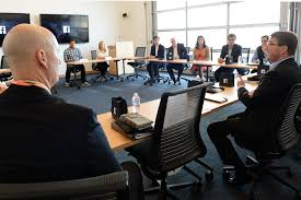 file defense secretary ash carter has a roundtable meeting with veterans at facebook headquarters in