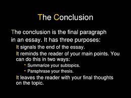 essay structure body and conclusion