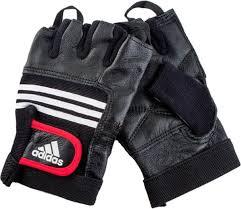 <b>Тяжелоатлетические перчатки Adidas</b> Leather Lifting Glove, цвет ...