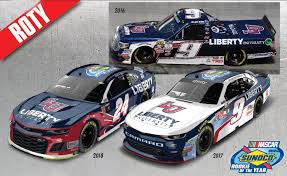william byron rookie of the year 3 cast set 2016 liberty university truck 2017 liberty university xfinity series car 2018 liberty university monster