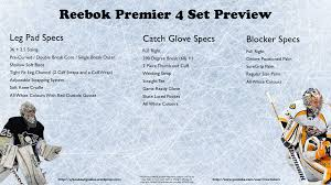 Reebok Premier 4 Preview Syko About Goalies