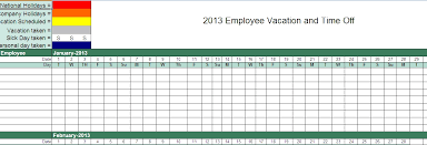 7 Employee Vacation Tracker Template Excel Word Pdf