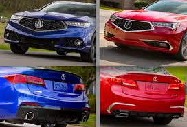 2018 acura mdx red. fine acura two faces of the 2018 tlx the blue actually u201cstill night blue pearlu201d  aspec at left carries unique styling elements that distinguish it from red tlx  in acura mdx