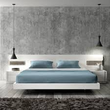 amore white lacquer wood contemporary platform bed jm furniture