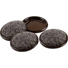 Everbilt 2 in Metal Furniture Cups with Carpet Base 4 per Pack