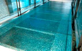 glass flooring commercial residential tile walking on water