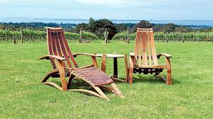 furniture made from barrels. Useable Art: Recliner Chairs And Table Made By Wine Barrel Artist Carl Smith. Furniture From Barrels E