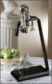standing wine opener. Estate Antique Bronze - Combo W/ Absolute Black Granite Table Standing Wine Opener V