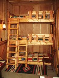 Furniture, Rustic Small Bedroom Decorating Ideas With Cool Designer Bunk  Beds With Ladder And Chairs