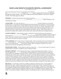 Month To Month Rental Agreement Template Free Maryland Month To Month Rental Agreement Template Pdf