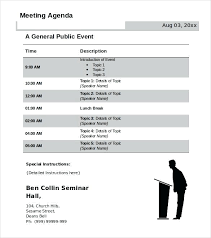 Agenda Template Word Free Meeting Templates And Sample Resume ...